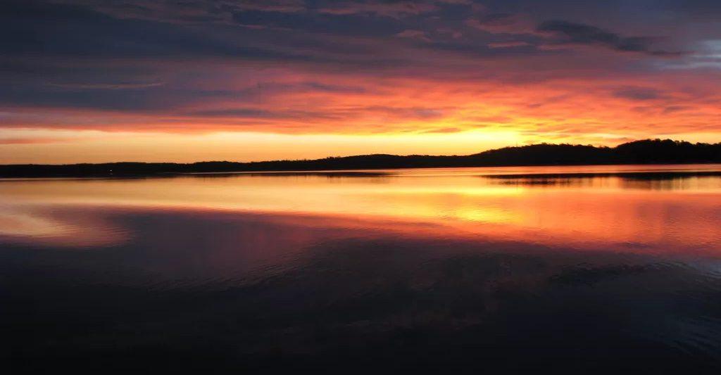 Summer Lake Sunset